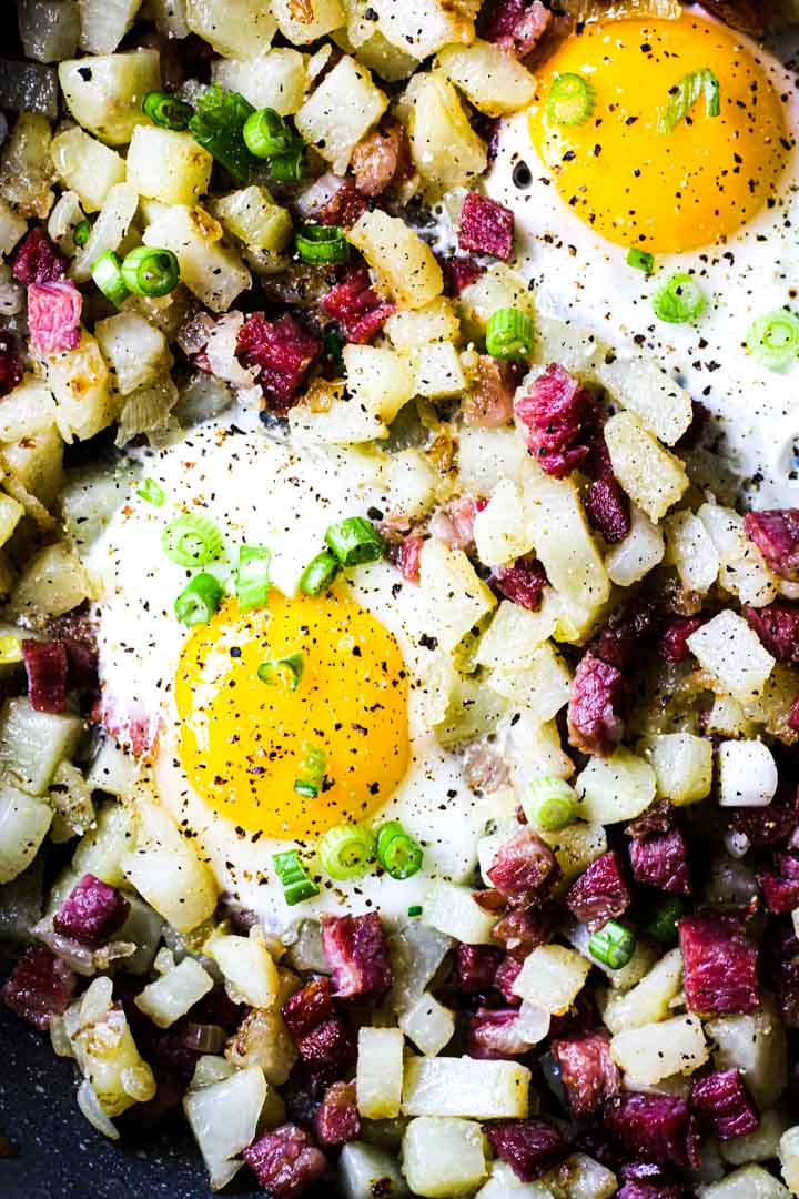 breakfast potato beef hash