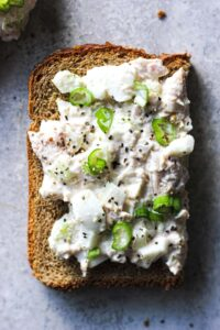 tuna salad on a toast