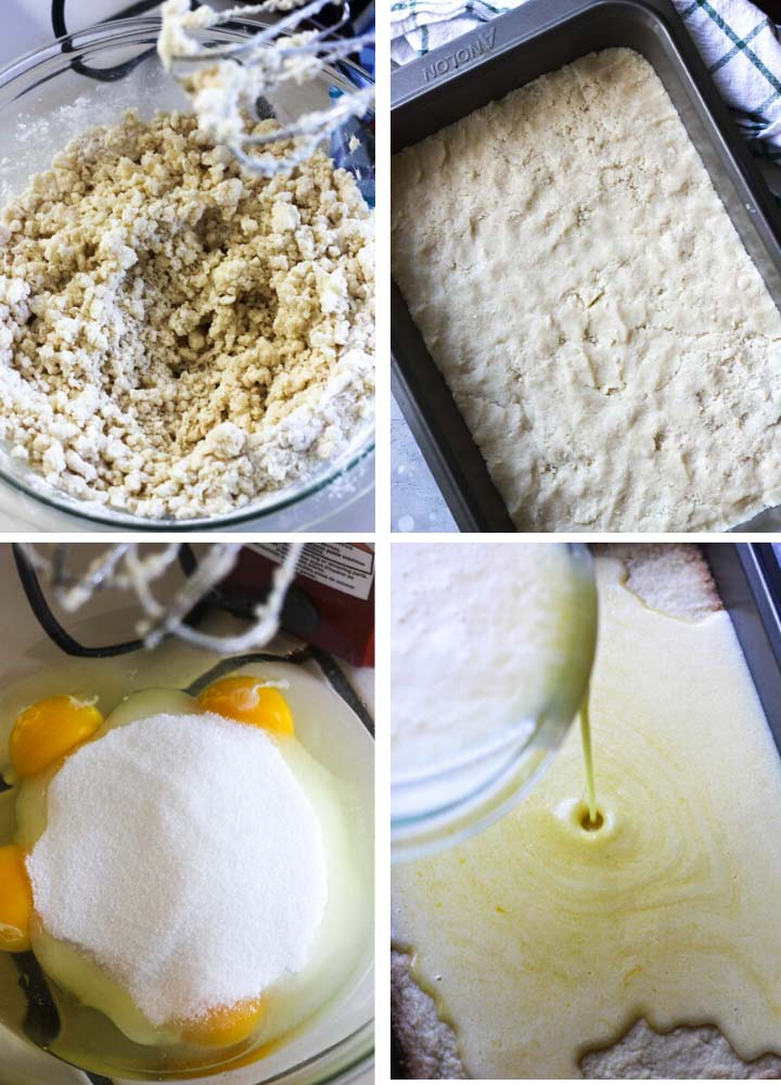 step by step photo of dough preparation