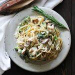 featured image of rotisserie chicken pasta