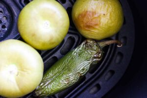 roasting jalapeno and tomatillos in air fryer