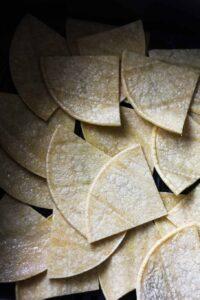 sliced tortillas in the air fryer