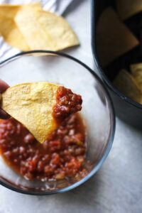 chip and roasted salsa