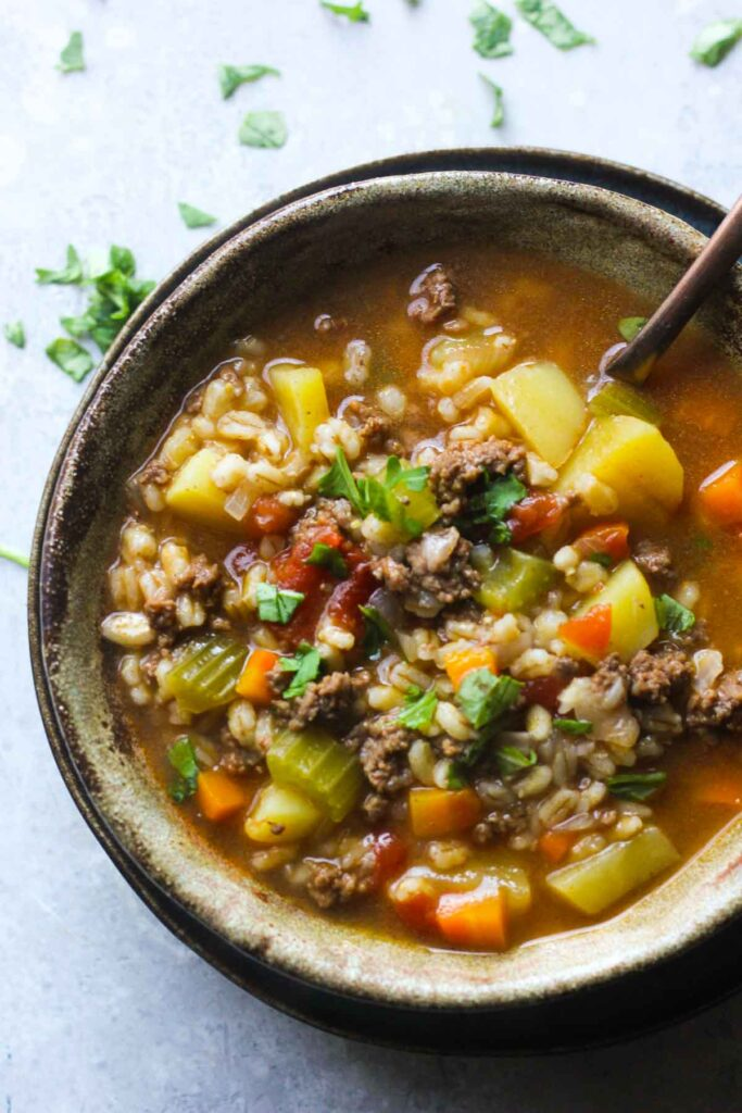 beef and barley soup in instant pot