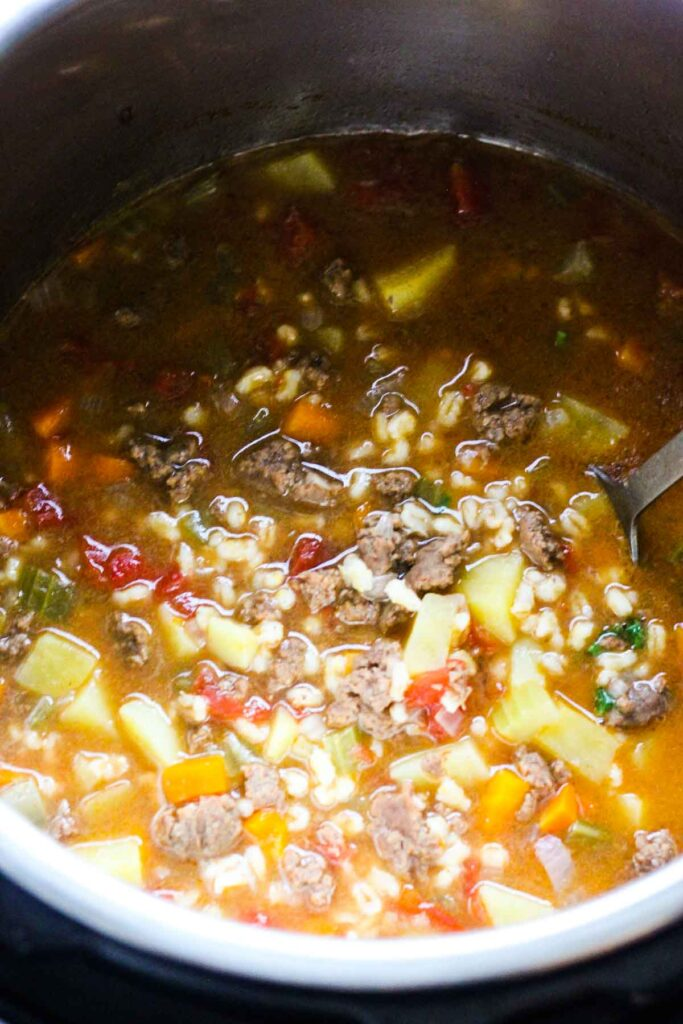 soup in instant pot