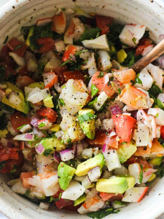 featured image of mexican ceviche in the bowl