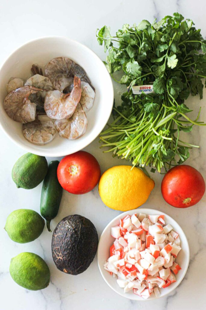 ingredients needed for mexican ceviche recipe